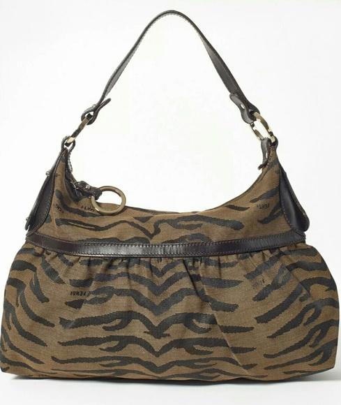 Fendi Handbags - Auth Large FENDI chef bag zebra print